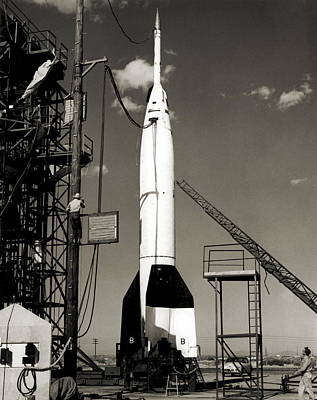 V2 Rocket Photograph - V-2 Bumper Rocket Launch In Usa by Detlev Van Ravenswaay