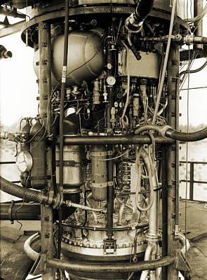 V-2 Rocket Engine Art Print by Detlev Van Ravenswaay