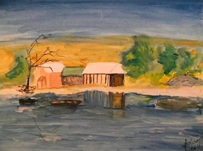 Pictori Romani Contemporani Painting - Vacation Cottage by Carmen Kolcsar