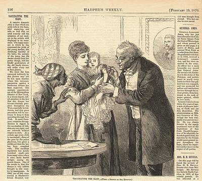 Vaccinating The Baby Against Smallpox Art Print by Everett