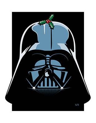 Greeting Digital Art - Vader Seasons Greetings by IKONOGRAPHI Art and Design