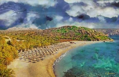 Fantasy Painting - Vai Beach II by George Rossidis