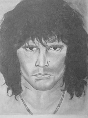 Val Kilmer Wall Art - Drawing - Val Kilmer Vs Jim Morrison  by Cara Surdi