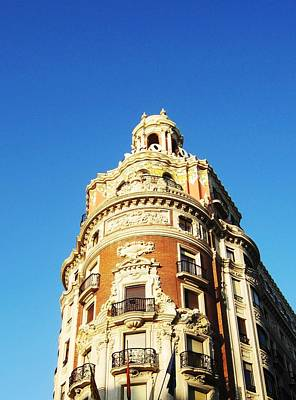 Photograph - Valencia Antique Spanish Artistic Architecture Building Spain by John Shiron