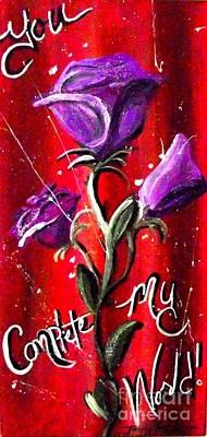 Painting - Valentine by Jayne Kerr