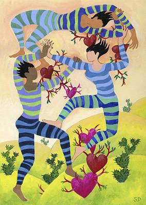 Painting - Valentine Dancers by Shoshanah Dubiner