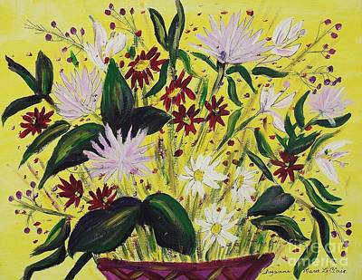 Painting - Valentine Flowers by Suzanne  Marie Leclair