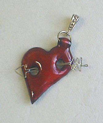 Enamel On Copper Jewelry - Valentine's Day 1 by Asya Ostrovsky