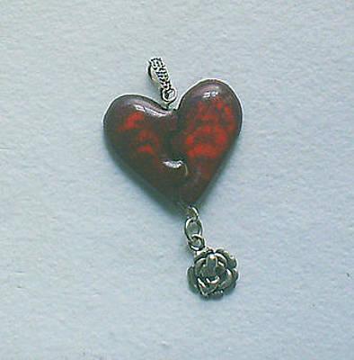Enamel On Copper Jewelry - Valentine's Day 5 by Asya Ostrovsky