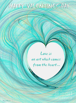 Digital Art - Valentines Day by Kaye Menner