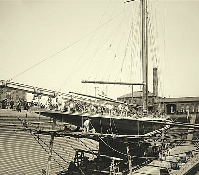 Valkyrie IIi In Erie Basin 1895 Art Print by Padre Art