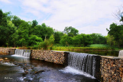 Valley Creek Waterfall - Chester County Pa Art Print by Bill Cannon