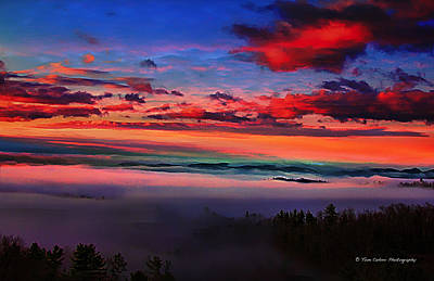 Photograph - Valley Fog And Sunrise 2 by Tom Culver