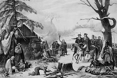 Valley Forge, 1777 Art Print by Photo Researchers