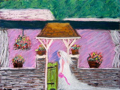 Valley Green Bride Art Print by Marita McVeigh