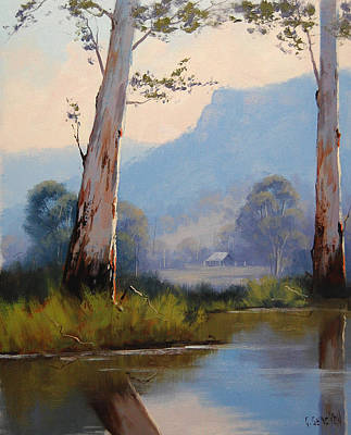 Old Tree Wall Art - Painting - Valley Gums by Graham Gercken