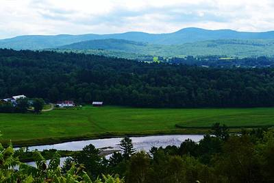 Valley Maine Art Print by Josee Dube