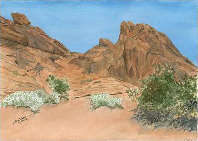 Painting - Valley Of Fire Near Atlatal Rock by Joel Deutsch