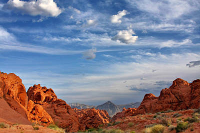 Valley Of Fire Nevada - A Must-see For Desert Lovers Art Print by Christine Till