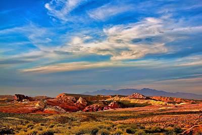 Art Print featuring the photograph Valley Of Fire Sunset by Joe Urbz