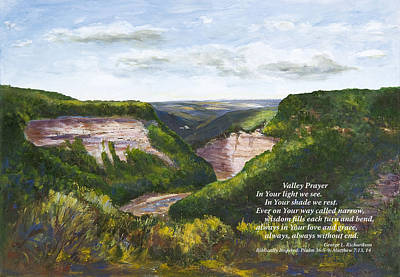 Valley Prayer With Poem Art Print by George Richardson