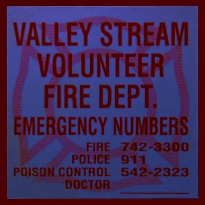 Valley Stream Fire Department In Blue Art Print by Rob Hans