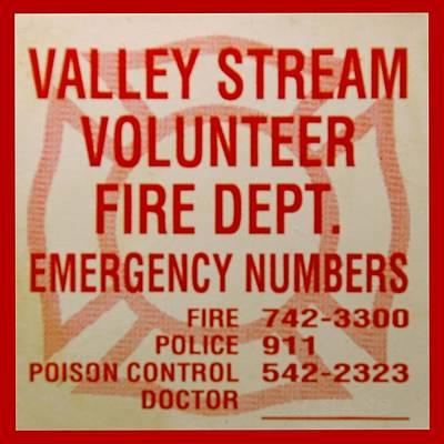 Valley Stream Fire Department Art Print by Rob Hans