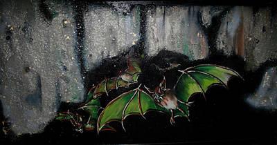 Painting - Vampire Bats  by Nada Meeks