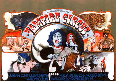 Vampire Circus, Anthony Corlan Center Art Print by Everett