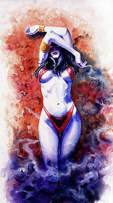 Eerie Painting - Vampirella by Ken Meyer jr