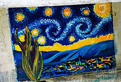 Van Gogh Graffiti Art Print by Ken Williams