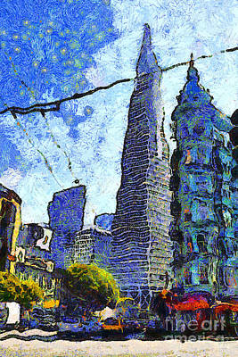 Photograph - Van Gogh Sips Absinthe And Takes In The Views From North Beach In San Francisco . 7d7431 by Wingsdomain Art and Photography