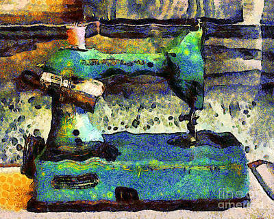 Photograph - Van Gogh.s Old Sewing Machine . 7d13064 by Wingsdomain Art and Photography