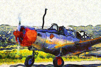Photograph - Van Gogh.s Single Engine Propeller Airplane 7d15754 by Wingsdomain Art and Photography