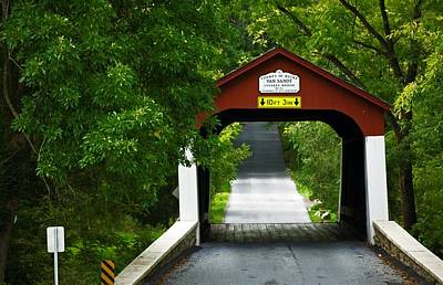 Photograph - Van Sandt Covered Bridge by Elsa Marie Santoro
