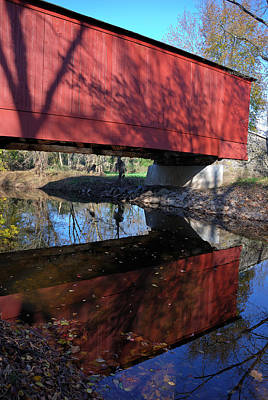 Photograph - Van Sant Covered Bridge by Steven Richman