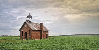 One Room Schoolhouse Photograph - Van Wagener One Room Schoolhouse by Brian Mollenkopf