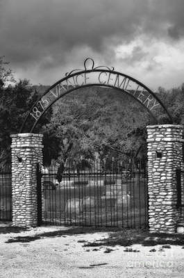 Photograph - Vance Cemetery Black And White by Donna Greene
