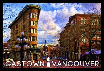 Photograph - Vancouver - Flat Iron In Gastown by Julius Reque