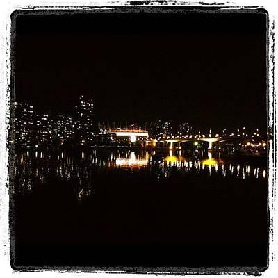 Skylines Wall Art - Photograph - Vancouver At Night by Tonino Guzzo