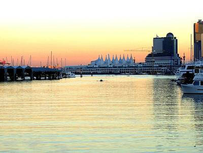 Photograph - Vancouver Harbor At Sundown by Will Borden