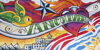 Photograph - Vancouver Mural by Chris Dutton