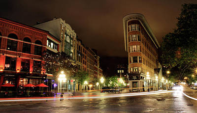 Photograph - Vancouver Night Scene In Gastown by Pierre Leclerc Photography