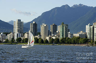 Photograph - Vancouver Sailboat  by John  Mitchell