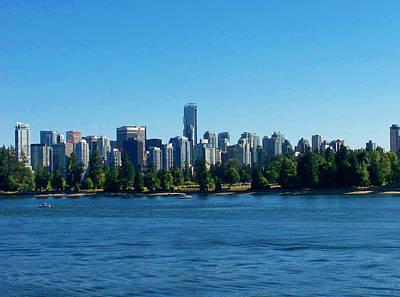 Photograph - Vancouver Skyline by Judy Wanamaker