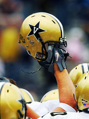 Sports Framed Photograph - Vanderbilt Commodore Helmet  by Vanderbilt University