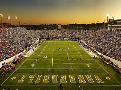 Vanderbilt Endzone View Of Vanderbilt Stadium Art Print