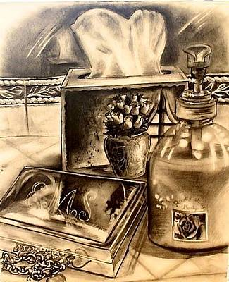 Drawing - Vanity by Elizabeth Marks