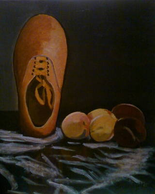 Vans And Peaches Art Print by Haley Lightfoot