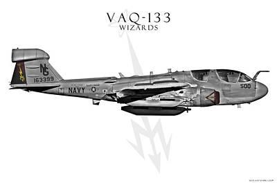 Prowler Digital Art - Vaq-133 Prowler by Clay Greunke